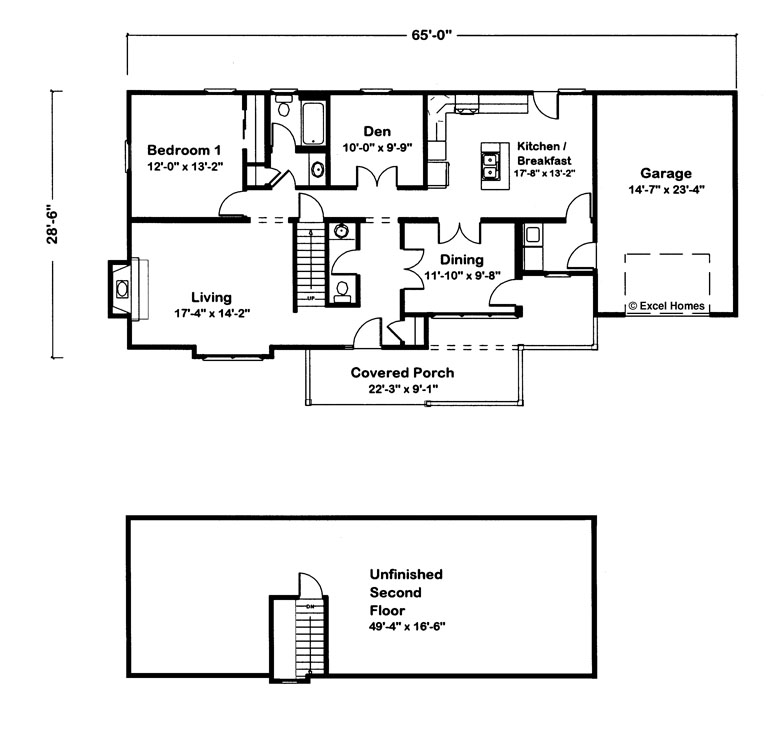 Cape cod floor plans with garage for Cape cod house floor plans